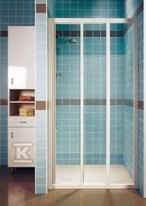 SUPERNOVA drzwi ASDP3-80 biała szkło transparent