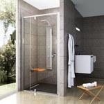 Drzwi prysznicowe obrotowe dwuelementowe PDOP2-100 połysk + szkło transparent