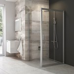 Blix drzwi prysznic. BLDP2-120 profil bright al, szkło transparent