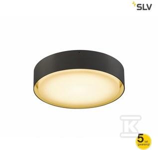 Plafon LIPA LED 24W 1500lm 3000/4000K IP44 antracyt