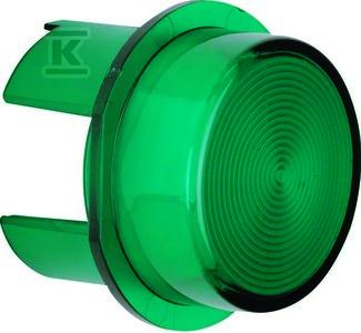 Klosz do sygnalizatora świetlnego E10 zielony przeźroczysty dodatki