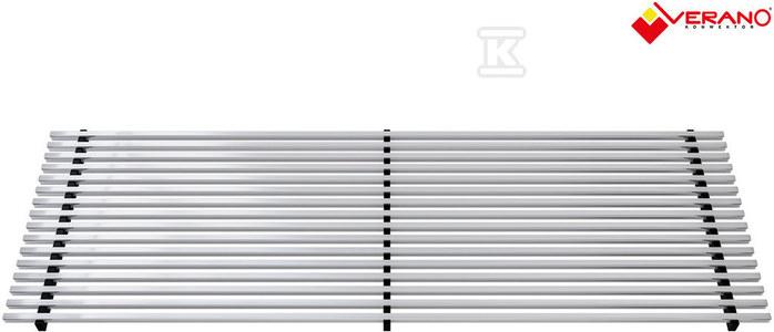 Kratka wzdłużna aluminium naturalne profil zatrzaskowy typ 17x110
