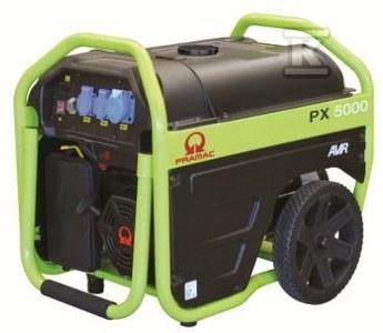 Agregat prądotwórczy przenośny PX5000 AVR Pramac, rozruch ręczny, napięcie 230 V, moc ciągła 3kVA