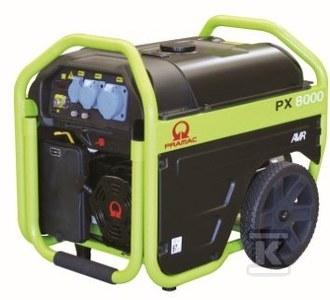 Agregat prądotwórczy przenośny PX8000 AVR Pramac, rozruch elektryczny, napięcie 400/230 V, moc ciągła 1,5kVA