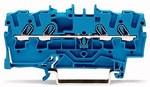 Złączka 4-przewodowa przelotowa 2,5 mm² do zastosowań Ex e II oraz Ex i opis z boku i na środku na szynę TS 35 x 15 i 35 x 7,5 Push-in CAGE CLAMP® 2,50 mm² niebieski