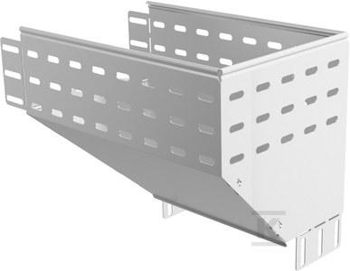 Kolanko redukcyjne prawe KRPP500H100, grubość blachy 1,5mm