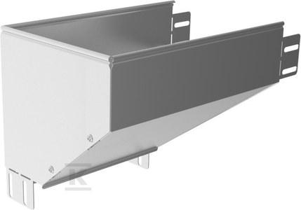 Kolanko redukcyjne lewe KRLBP600H80, grubość blachy 1,5mm