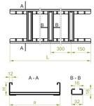 Drabinka DUC300H80/3 N, grubość blachy - 496030