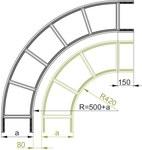Łuk zewnętrzny drabinki 90° LDZC500H100 - 499850