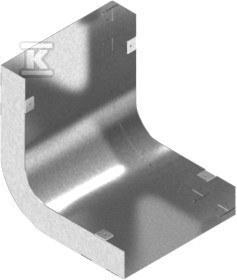 Łuk kanału LK190H28, grubość blachy 1,0mm