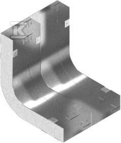Łuk kanału dwutorowy LKd175H38, grubość blachy 1,0mm