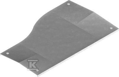 Pokrywa redukcji lewej z zamkiem PZRDLP200/100, grubość blachy 1,5mm