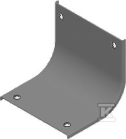 Pokrywa łuku wewnętrznego 45° z zamkiem PZLZWP400, grubość blachy 1,5 mm
