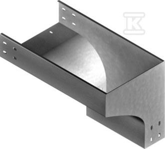 Kolanko redukcyjne prawe KRPZC500H100, grubość blachy 2,0mm