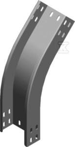 Łuk zewnętrzny 45° LZZMC100H50, grubość blachy 2,0 mm