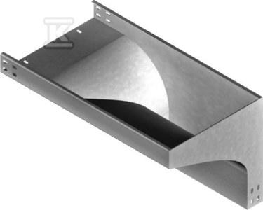 Kolanko redukcyjne prawe KRPZP300H50, grubość blachy 1,5mm