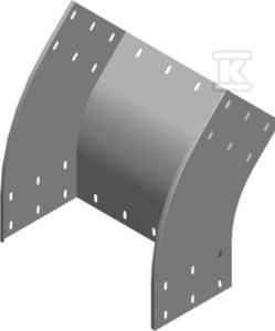 Łuk zewnętrzny 45° LZZMP200H200, grubość blachy 1,5 mm