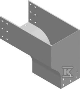 Kolanko redukcyjne prawe KRPZP200H200, grubość blachy 1,5mm