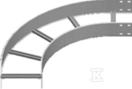 Łuk 90° LDST200H100, grubość blachy 3,0mm