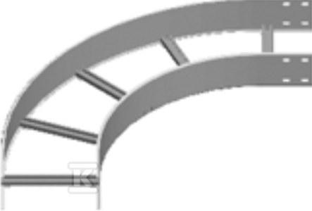 Łuk 90° LDST200H150, grubość blachy 3,0mm