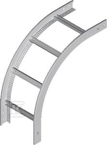 Łuk pionowy zewnętrzny drabiny LPDZC400H45N, grubość blachy 2,0mm