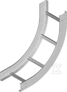 Łuk pionowy wewnętrzny drabiny LPDWC600H120 N, grubość blachy 2,0mm