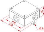 Puszka metalowa łączeniowo-rozgałęźna - 801100