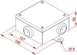 Puszka metalowa łączeniowo-rozgałęźna - 802020
