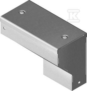 Kolanko redukcyjne prawe KRPKMP100H50, grubość blachy 1,5mm