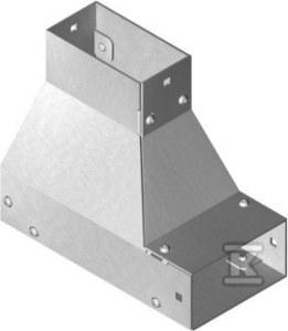 Kolanko redukcyjne dolne lewe KRLDMP50H50, grubość blachy 1,5mm