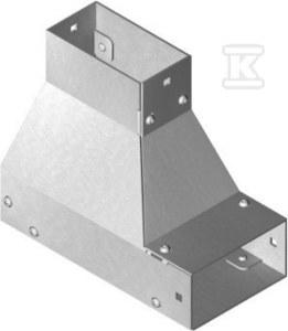 Kolanko redukcyjne dolne lewe KRLDMC200H100, grubość blachy 2,0mm