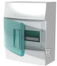 Rozdzielnica MISTRAL41W natynkowa drzwi przezroczyste 8 modułowa z listwą N+PE