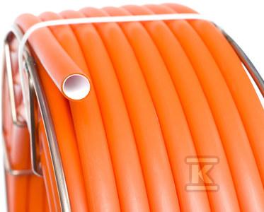 Mikrorura do prowadzenia i ochrony światłowodów FiberGuard rowkowana z pilotem FGG-P 12x16 pomarańczowa.Rura do mikrokanalizacji o długości 100 mb