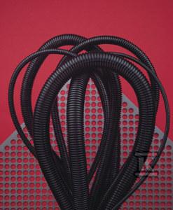 Rura karbowana bezhalogenowa bez pilota (peszel bezhalogenowy) RIS_PA6_HB 26*32 ,czarna, odporność 750N 50 mb