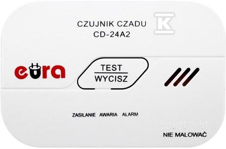 """Czujnik czadu """"EURA"""" CD-24A2 3V bateryjny, 7 lat gwarancji"""