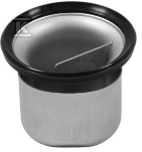Dwuczęściowy syfon, rozkręcany, higieniczny przepływ max. 1/7l/s