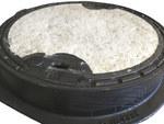 Właz betonowany DO 600 H115 malowany, KL.D400 (40T)