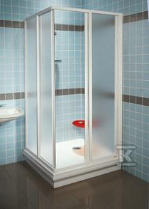 SUPERNOVA drzwi SRV2-90 S satyna szkło transparent