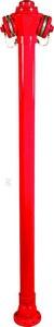 Hydrant naziemny HN-3, DN80 wys:2450, kołnierz na 8 otworów, pojedyncze zamknięcie
