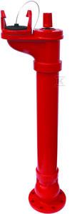 Hydrant podziemny, DN80pn10, wysokość h=1250mm, kołnierz na 8 otworów