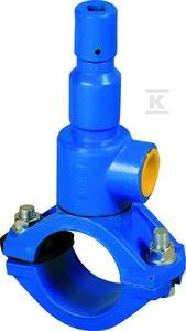 Nawiertka przyłączeniowa NP.-1 DN 160/32 do rur PVC/PE, o ściance do 11 mm, żeliwo szare GJL