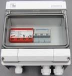 Zestaw przyłączeniowy PV z ogranicznikiem przepięć AC typu 1+2 i MCB 16A 3-bieg, II klasa ochronności