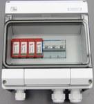 Zestaw przyłączeniowy PV z ogranicznikiem przepięć AC typu 2 i MCB 16A 3-bieg, II klasa ochronności