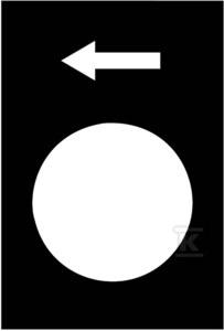 Etykieta wymiary 30X40mm, czarna