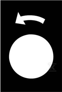 Etykieta wymiary 30x40mm czarna