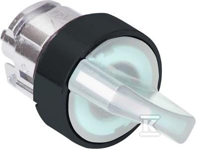 Przełącznik 2 pozycyjny biały w lewo LED plastikowy typowa