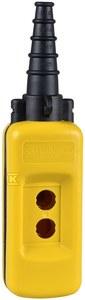 Kaseta sterownicza pusta, dowolnie konfigurowalna, z 2 otworami, żółta