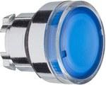 Przycisk płaski niebieski samopowrotny żarówka BA 9s metalowy typowa