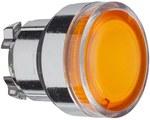 Przycisk płaski pomarańczowy samopowrotny żarówka BA 9s metalowy typowa
