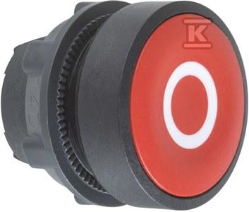 Przycisk płaski czerwony samopowrotny bez podświetlenia plastikowy O